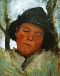 Tuke | Boy in a Sou'wester, c.1882 | Giclée Canvas Print