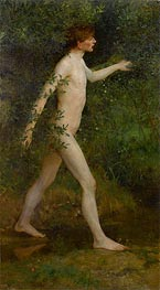 Tuke | A Woodland Bather, 1893 | Giclée Canvas Print