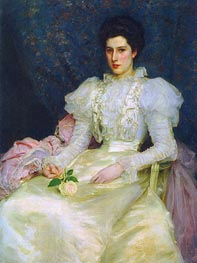 Tuke | Miss Muriel Lubbock, 1897 | Giclée Canvas Print