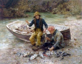Tuke | The Good Catch, 1913 | Giclée Canvas Print