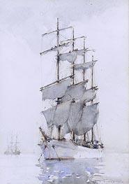 Tuke | Four-Masted Barque, 1914 | Giclée Paper Print