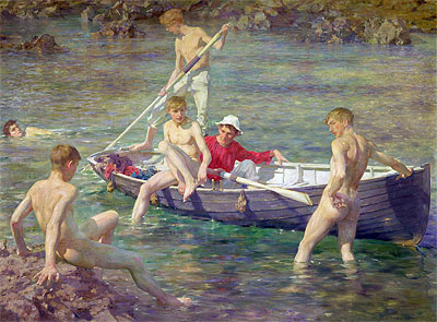 Ruby, Gold and Malachite, 1902 | Tuke | Painting Reproduction