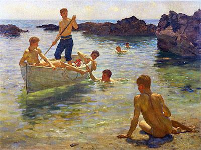 Morning Splendour, 1922   Tuke   Painting Reproduction