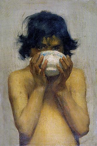 Drinking, c.1881   Tuke   Painting Reproduction