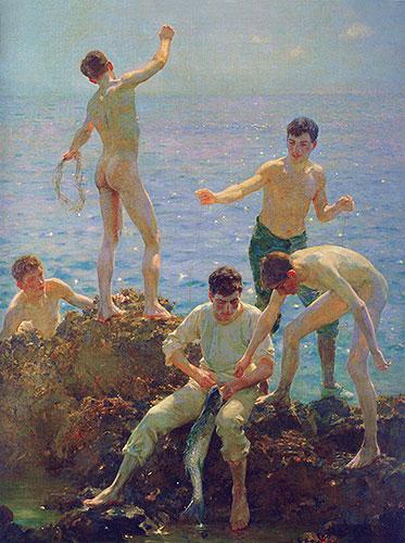 Midsummer Morning, 1907 | Tuke | Painting Reproduction