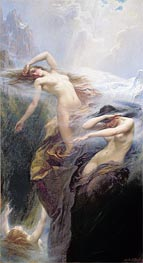 Herbert James Draper | The Mountain Mists (Clyties of the Mist), 1912 | Giclée Canvas Print
