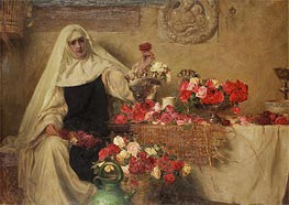 Herbert James Draper | For Saint Dorothea's Day, 1899 | Giclée Canvas Print