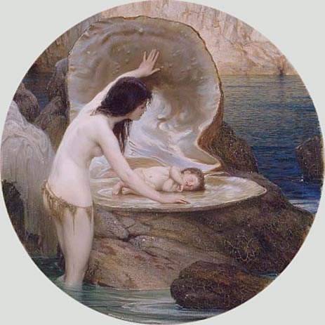A Water Baby, c.1900 | Herbert James Draper | Painting Reproduction
