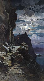 Hermann David Salomon Corrodi   Passage of the Monks to Mount Athos Monastery, undated   Giclée Canvas Print