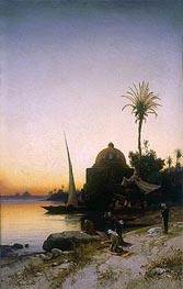 Hermann David Salomon Corrodi   Praying to Mecca, undated   Giclée Canvas Print
