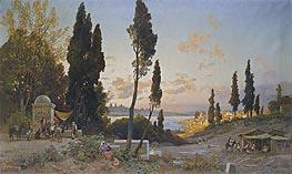 Hermann David Salomon Corrodi   View across the Bosphorus, Constantinople, undated   Giclée Canvas Print
