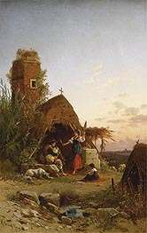 Hermann David Salomon Corrodi | Gypsies in the Campagnia, undated | Giclée Canvas Print