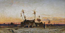 Hermann David Salomon Corrodi | An Arab Encampment at Sunset | Giclée Canvas Print