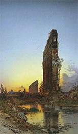 Hermann David Salomon Corrodi | Ruins at Sunset, undated | Giclée Canvas Print