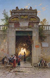 Hermann David Salomon Corrodi | On the Via Flaminia near the Villa Cavalieri, undated | Giclée Canvas Print