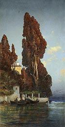 Hermann David Salomon Corrodi   A Villa in Venice, undated   Giclée Canvas Print