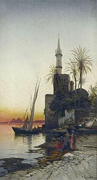 Hermann David Salomon Corrodi | On the Banks of the Nile, undated | Giclée Canvas Print