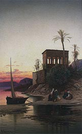 Hermann David Salomon Corrodi | The Kiosk of Trajan, Philae on the Nile, undated | Giclée Canvas Print