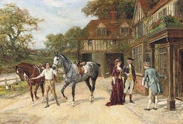 Heywood Hardy | After the Morning Gallop, 1907 | Giclée Canvas Print