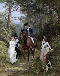 Heywood Hardy | The Meeting in the Forest, 1903 | Giclée Canvas Print