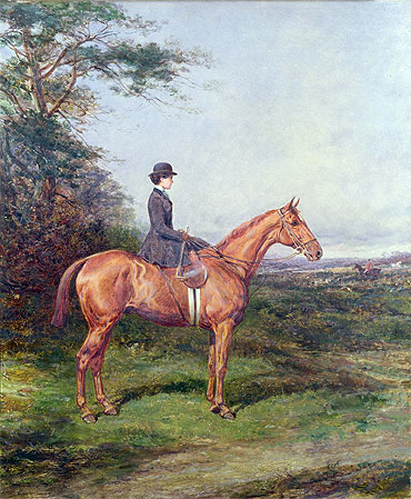 Miss A. L. North on 'Ivanhoe', undated | Heywood Hardy | Painting Reproduction