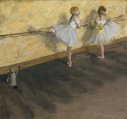 Degas | Dancers Practicing at the Barre, 1877 by | Giclée Canvas Print