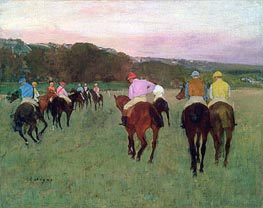 Degas | Racehorses at Longchamp | Giclée Canvas Print