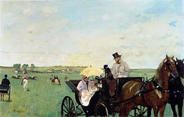 Degas | A Carriage at the Races in the Countryside | Giclée Canvas Print