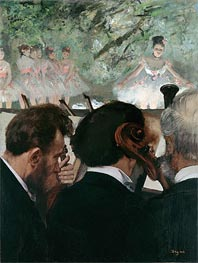 Degas | Musicians in the Orchestra | Giclée Canvas Print