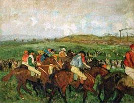 Degas | The Gentlemen's Race - Before the Start | Giclée Canvas Print