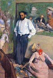 Degas | Portrait of the Painter Henri Michel-Levy | Giclée Canvas Print
