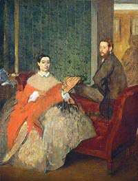 Degas | Edmondo and Therese Morbilli, c.1865 | Giclée Canvas Print