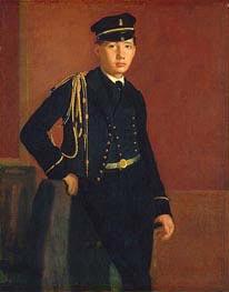 Degas | Achille De Gas in the Uniform of a Cadet, c.1856/57 | Giclée Canvas Print