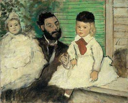 Degas | Ludovic Lepic and His Daughters, c.1871 | Giclée Canvas Print