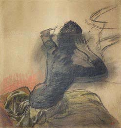 Degas | Seated Woman Adjusting Her Hair | Giclée Paper Print
