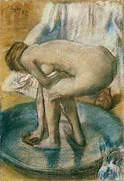 Degas | Woman Bathing in a Shallow Tub | Giclée Paper Print