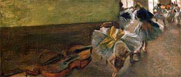 Degas | Dancers in the Rehearsal Room with a Double Bass, c.1882/85 | Giclée Canvas Print