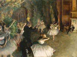 Degas | The Rehearsal of the Ballet Onstage, c.1874 | Giclée Canvas Print