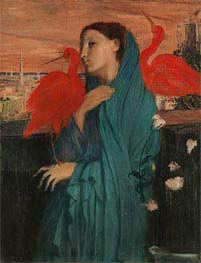 Degas | Young Woman with Ibis, c.1860/62 | Giclée Canvas Print