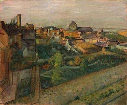 Degas | View of Saint-Valery-sur-Somme, c.1896/98 | Giclée Canvas Print
