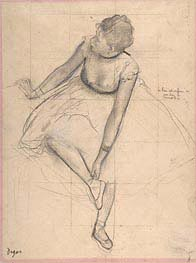 Degas | Dancer Adjusting Her Slipper, 1873 | Giclée Paper Print