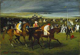 Degas | At the Races: The Start, c.1860/862 | Giclée Canvas Print