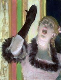 Degas | Cafe singer | Giclée Canvas Print