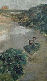 Degas | Dancer on stage, c.1879 | Giclée Canvas Print