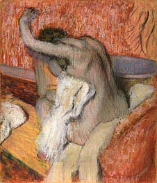 Degas | After the bath - woman drying herself, c.1895 | Giclée Paper Print
