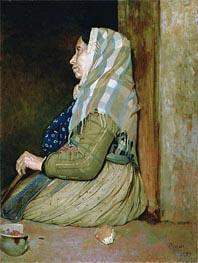 Degas | A Roman Beggar Woman, 1857 | Giclée Canvas Print