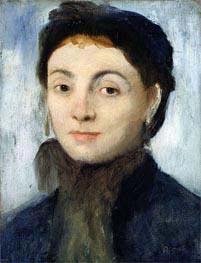 Degas | Portrait of Josephine Gaujelin, 1867 | Giclée Canvas Print