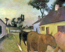 Degas | Return of the Herd, undated | Giclée Canvas Print