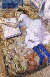 Degas | Young Girl Stretched Out Looking at an Album, undated | Giclée Paper Print