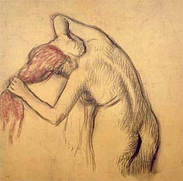 Degas | Woman Drying Herself | Giclée Paper Print